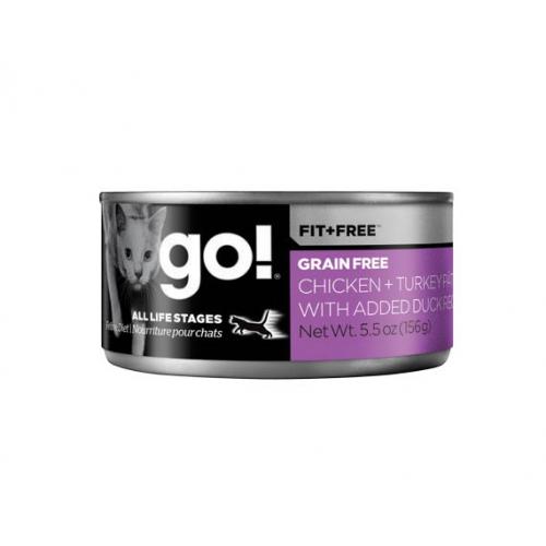GO! Fit + Free - Paté di Pollo, Tacchino & Anatra Grain Free per gatti