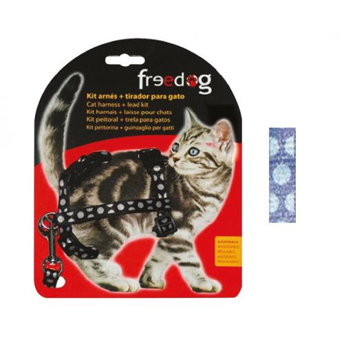 KIT Pettorina e Guinzaglio regolabile per gatto - BLU