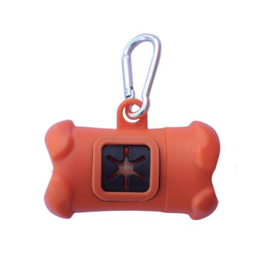 Dispenser Porta Sacchettini ARANCIONE con rotolo da 20 sacchetti