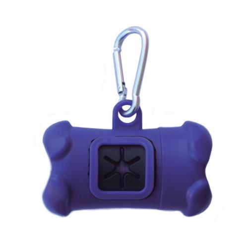 Dispenser Porta Sacchettini VIOLA con rotolo da 20 sacchetti