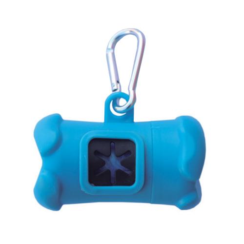 Dispenser Porta Sacchettini AZZURRO con rotolo da 20 sacchetti