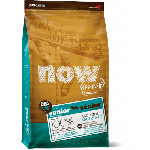 Now Fresh Senior Large Breed - crocchette cane Grain Free
