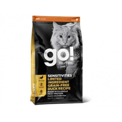 Go! Sensitivity + Shine Anatra - Crocchette Gatto Grain Free