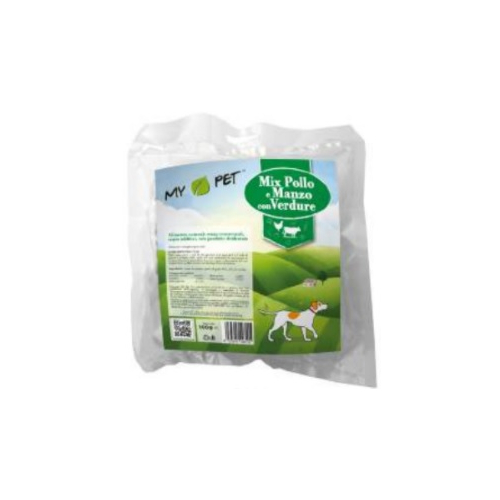 Pasto disidratato - MIX Pollo e manzo verdure - 100gr